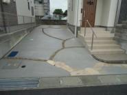 曲線アクセントの駐車場