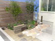 洋風の坪庭