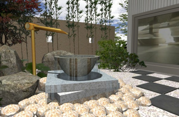 水の空間 純和風庭園