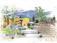 「和」の庭 ~屋上庭園のリガーデン~
