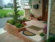 緑豊かな欧風ガーデンと、和風庭園の融合