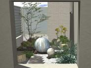 お風呂から眺める庭