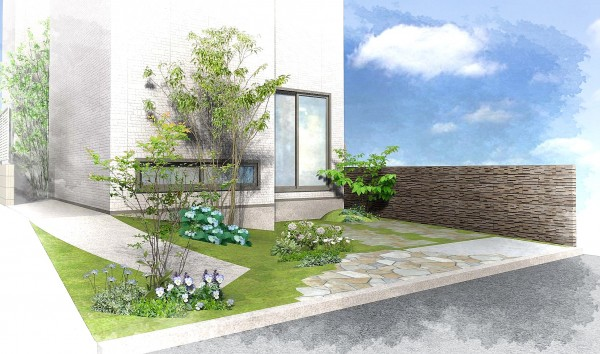 自然を意識した家