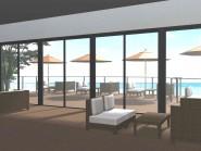 浜辺のカフェテラス