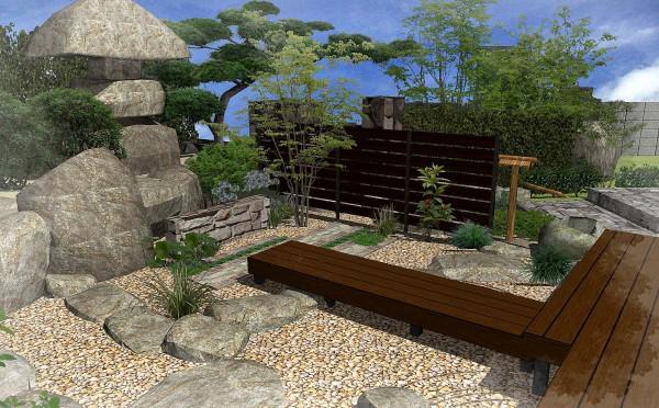 和庭の憩いのスペース