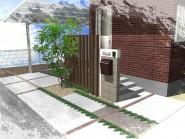 列柱でデザインする玄関まわり
